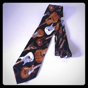 Steven Harris Hand Made Guitar Music Neck Tie